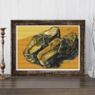 A Pair of Leather Clogs Cross Stitch Chart by Vincent Van Gogh (MINI)