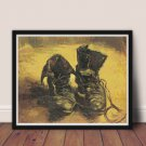A Pair of Shoes Cross Stitch Chart by Vincent Van Gogh