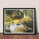The Luncheon Cross Stitch Kit by Claude Monet