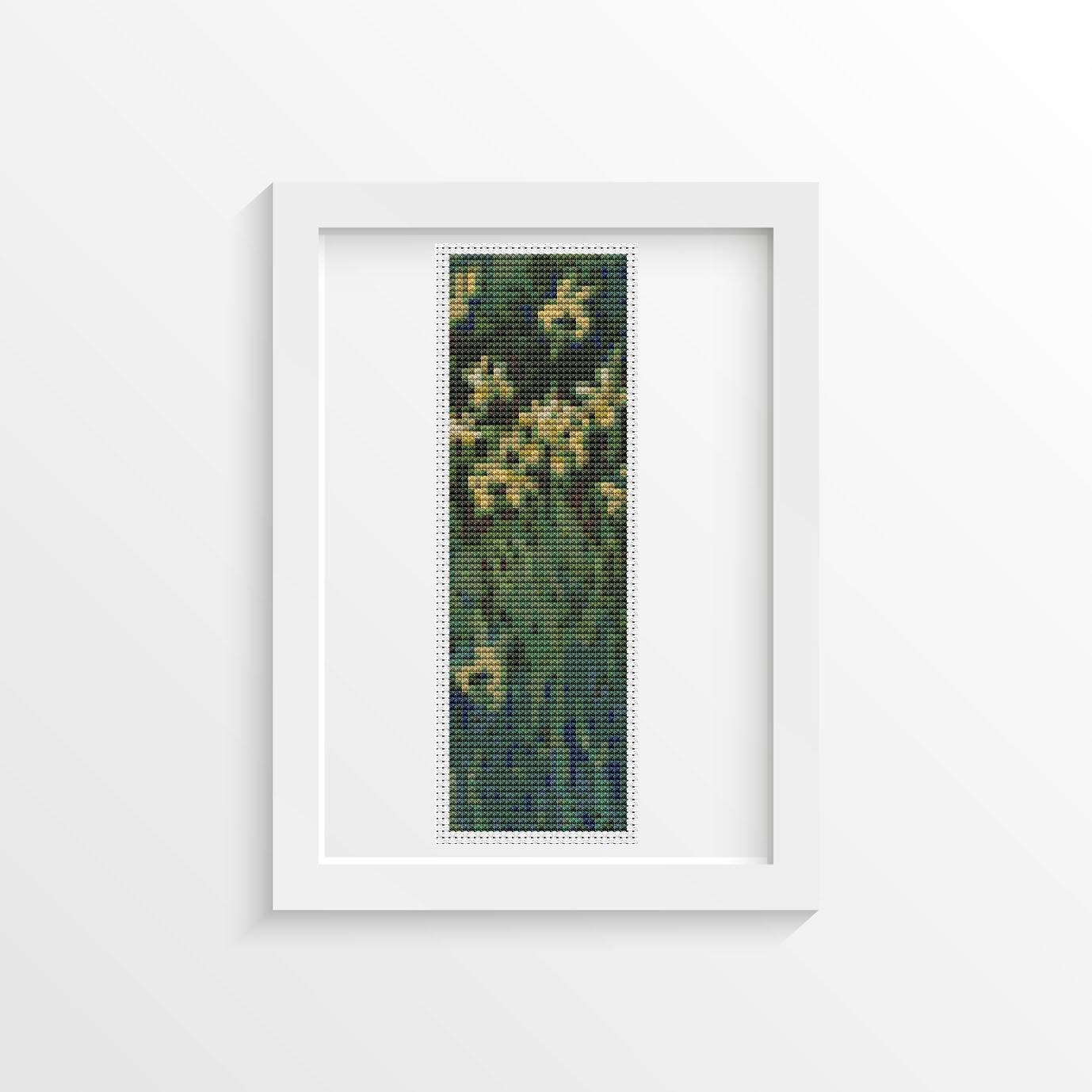 Yellow Irises Cross Stitch Kit by Claude Monet (BOOKMARK)