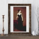 Madame X Cross Stitch Chart by John Singer Sargent (MINI)
