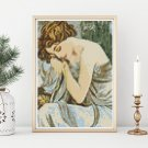 Night Cross Stitch Chart by Alphonse Mucha (MINI)