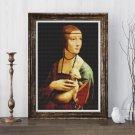 Lady with an Ermine Cross Stitch Chart by Leonardo da Vinci (MINI)