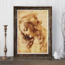 A Woman's Head Cross Stitch Chart by Leonardo da Vinci (MINI)