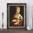 Lady with an Ermine Cross Stitch Kit by Leonardo da Vinci (MINI)