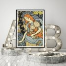 Woman Gathering Flowers Cross Stitch Chart by Eugene Grasset