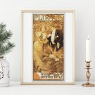 Flirt Cross Stitch Chart by Alphonse Mucha