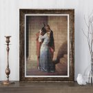 A Kiss Cross Stitch Kit by Francesco Hayez