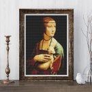 Lady with an Ermine Cross Stitch Kit by Leonardo da Vinci