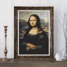 Mona Lisa Cross Stitch Chart by Leonardo da Vinci