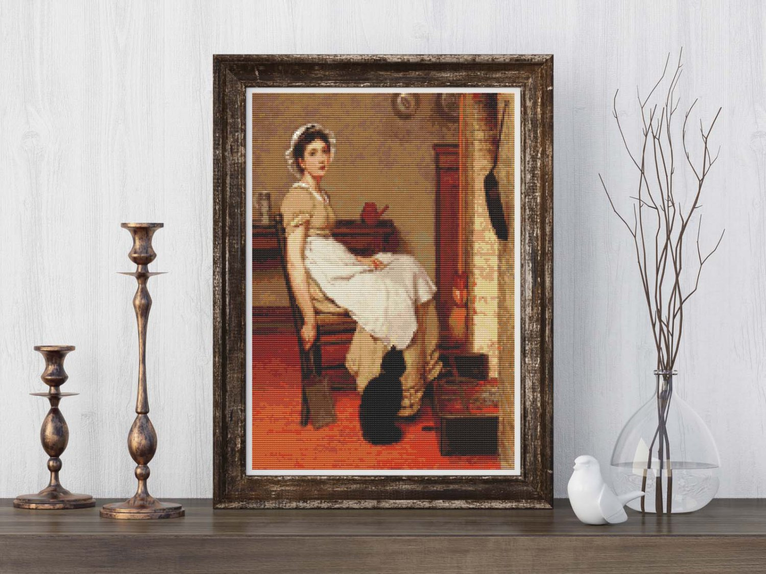 Her First Place Cross Stitch Kit by G.D. Leslie
