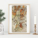 Winter Cross Stitch Chart by Alphonse Mucha