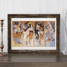 Four Seasons Cross Stitch Chart by Alphonse Mucha