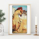 Summer Cross Stitch Kit by Alphonse Mucha