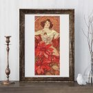 Ruby Cross Stitch Chart by Alphonse Mucha