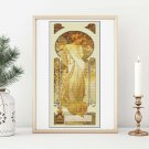Lady Sylvanis Essence Cross Stitch Chart by Alphonse Mucha