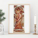 White Star Cross Stitch Kit by Alphonse Mucha