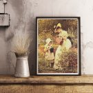 The Young Gardener Cross Stitch Chart by G.D. Leslie