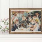 The Luncheon of the Boating Party Cross Stitch Chart by Pierre-Auguste Renoir