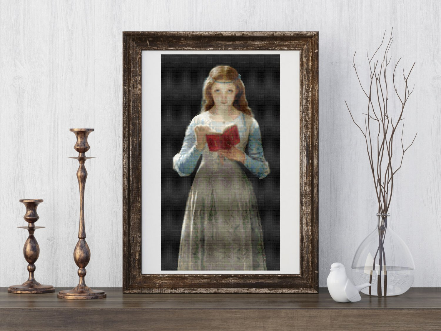 Ophelia Cross Stitch Kit by Pierre Auguste Cot
