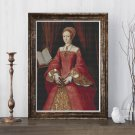 Portrait of Elizabeth I as a Princess Cross Stitch Chart by William Scrots