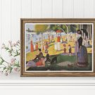 A Sunday Afternoon on the Island of La Grande Jatte Cross Stitch Chart by Georges Seurat