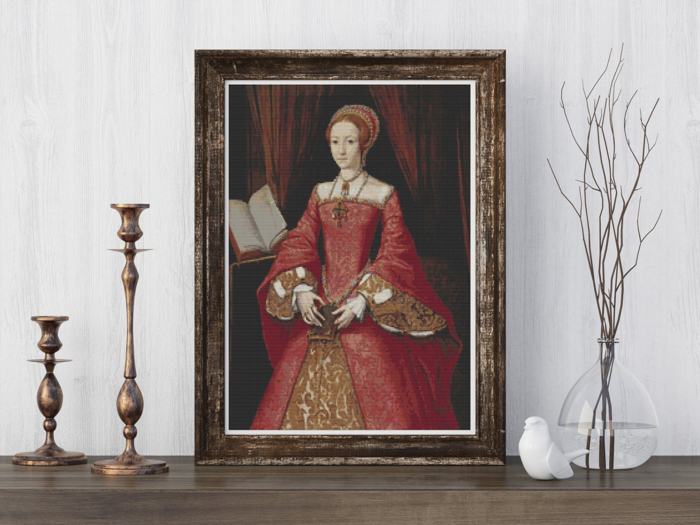 Portrait of Elizabeth I as a Princess Cross Stitch Kit by William Scrots
