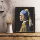 The Girl with the Pearl Earring Cross Stitch Kit by Johannes Vermeer