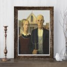 American Gothic Cross Stitch Kit by Grant Wood
