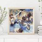 Blue Dancers Cross Stitch Chart by Edgar Degas