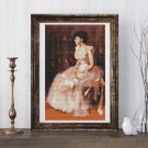 Portrait of a Lady in Pink Cross Stitch Chart by William Merritt Chase