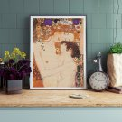 Mother and Child Cross Stitch Chart by Gustav Klimt