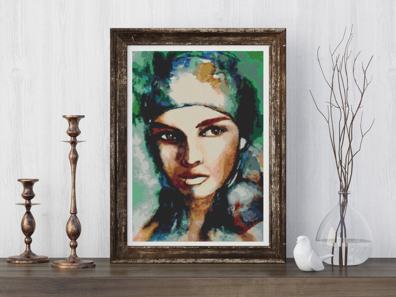 Gypsy Woman Cross Stitch Kit