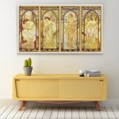 The Times of the Day Cross Stitch Chart by Alphonse Mucha