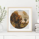 Autumn Landscape with Four Trees Cross Stitch Chart by Vincent van Gogh