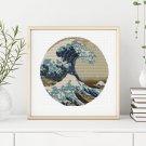 Great Wave off Kanagawa Cross Stitch Chart by Katsushika Hokusai