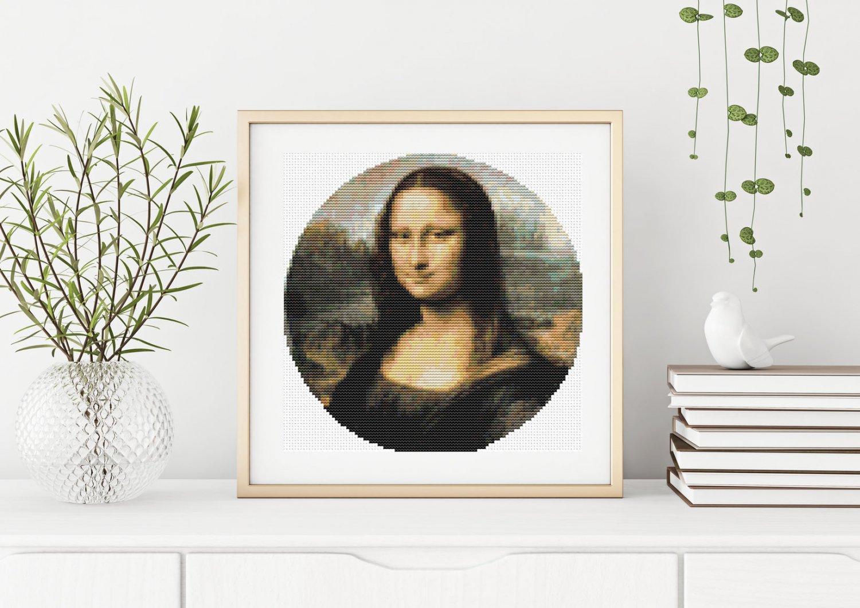 Mona Lisa Cross Stitch Kit by Leonardo da Vinci