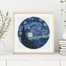 The Starry Night Cross Stitch Kit by Vincent Van Gogh