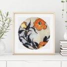 Poppies Circular Cross Stitch Chart by Katsushika Hokusai