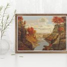 The Gorge at Letchworth Park Cross Stitch Chart by Levi Wells Prentice
