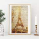 Eiffel Tower Cross Stitch Chart by Georges Seurat