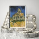 The Church at Auvers Sur Oise Cross Stitch Chart by Vincent Van Gogh