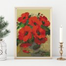 Poppies in a Vase Cross Stitch Kit by William Jabez Muckley (MINI)