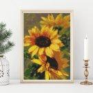 Sunflowers Mini Cross Stitch Kit by Catherine Klein