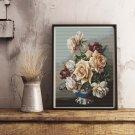 Vase of Roses Cross Stitch Kit by Irene Klestova