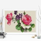 Pink Roses Cross Stitch Kit by Catherine Klein