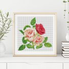 A Trio of Pink Roses Cross Stitch Kit