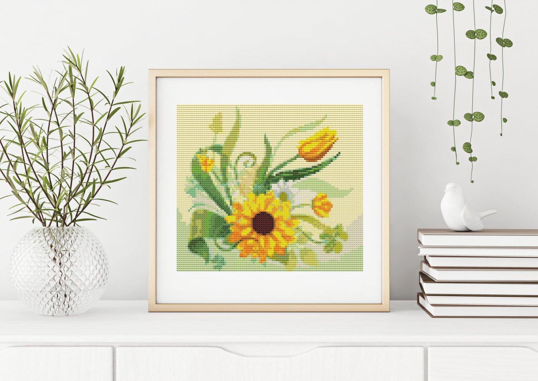 Sunflower Garden Cross Stitch Chart