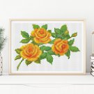 A Trio of Yellow Roses Cross Stitch Chart
