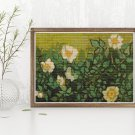 Wild Roses Cross Stitch Chart by Vincent Van Gogh